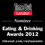 Time Out Winner Eating & Drinking Awards 2012